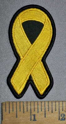 4495 S - Gold Ribbon - Childhood Cancers - Embroidery Patch