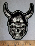 4508 G - Viking Skullman - Embroidery Patch