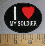 4512 CP - I Love My Soldier - Oval - Embroidery Patch