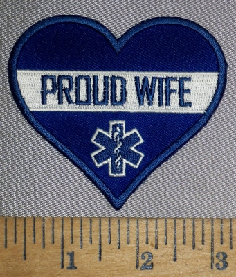 4514 CP - Proud Wife - EMT Heart - Embroidery Patch