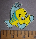 4516 C - Flounder - Little Mermaid - Embroidery Patch