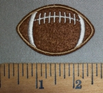 4521 C - Dark Brown Football - Embroidery Patch