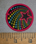 4522 C - Colorful Falling Star - Round - Embroidery Patch