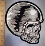 4524 G - DISCONTINUED  Skull Rider With Helmet- Back Patch - Embroidery Patch