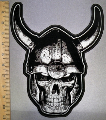 4526 G - Viking Skullman - Back Patch - Embroidery Patch