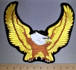 4534 S - Gold Winged Eagle - Back Patch - Embroidey Patch