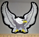 4535 S - Silver Winged Eagle - Back Patch