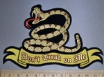 4541 CP - Don't Tread On Me Ribbon With Snake - Back Patch- Embroidery Patch