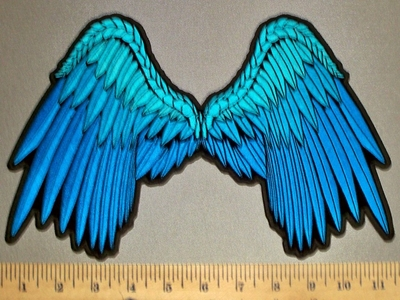 4545 CP - Multi Blue Angel Wings - Embroidery Patch