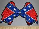 4546 CP - Confederate Flag Angel Wings - Embroidery Patch