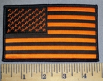 4571 S - Black And Orange Flag - 5 Inch - Embroidery Patch