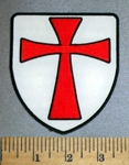 4578 CP - Knights Templar Shield - Embroidery Patch