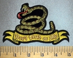 4581 CP - Don't  Tread On Me Ribbon With Snake - Embroidery paatch