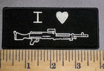 4584 CP - I Love Rifles - Embroidery Patch