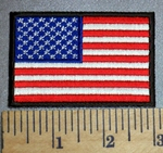 4596 CP - American Flag With Black Border - Embroidery Patch