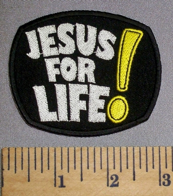 4601 CP - JESUS For Life! - Embroidery Patch