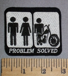 4602 CP - Man And Woman - Man And Motorcycle - Problem Solved - Embroidery Patch