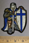 4607 CP - Blue Crusader Knight - With Shield And Sword - Full Armor - Embroidery Patch