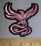 4608 L Phoenix - Pink - Embroidery Patch