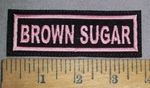 4610 L - Brown Sugar - Pink - Embroidery Patch