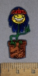 4611 N -  Hippy Flower In Flowerpot - Embroidery Patch