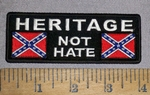 4617 CP - Heritage - Not Hate - Confederate Flags - Embroidery Patch