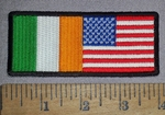 4622 CP - Irish - American Flag - Embroidery Patch