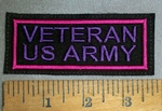 4629 L - Veteran US Army - Purple - Embroidery Patch