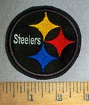 4637 L - Pittsburgh Steelers - Round - Embroidery Patch