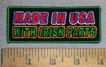 4641 CP - MADE IN USA - With Irish Parts - Embroidery Patch