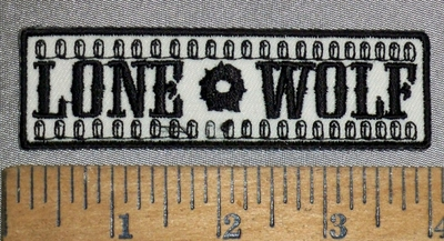 4645 CP - Lone Wolf - With Bullets - Embroidery Patch