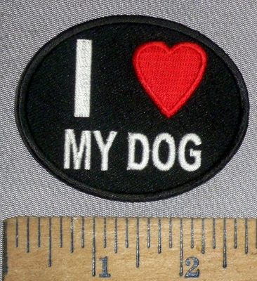 4647 CP - I Love My Dog - Embroidery Patch