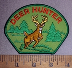 4658 S - Deer Hunter - With Picture Of Buck - Embroidery Patch