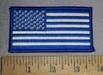 4660 S - Blue And White American Flag - Embroidery Patch