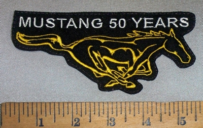 4665 L - Mustang 50 Years - Mustang Logo - Embroidery Patch