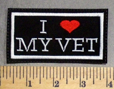 4671 L - I (Heart) My Vet - Embroidery Patch