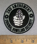 4687 CP - Original Homeland Security  - 2nd Amendment - Round - Embroidery Patch