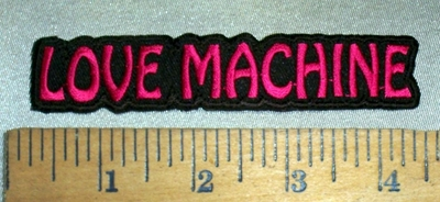 4693 N - Love Machine - Embroidery Patch