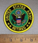 4697 CP - United States Army - Retired - Round - Embroidery Patch