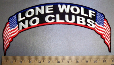 4711 CP - Top Rocker - Lone Wolf - No Clubs - American Flag - Embroidery Patch