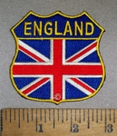 4714 CP - England Flag Shield - Embroidery Patch