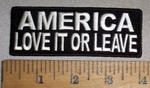 4715 CP - America - Love It Or Leave - Embroidery Patch