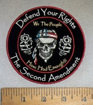 4737 CP - Defend Your Rights - The Second Amendment - We The People Have Had Enough!!! - Skullman With 2 Pistols - Round - Embroidery Patch