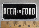 4740 G - BEER Is Food - Embroidery Patch