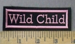 4758 L - Wild Child - Pink - Embroidery Patch