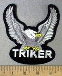 4762 S -Triker - Silver Eagle - Embroidery Patch
