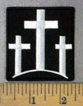 4769 CP - 3 White Cross - Embroidery Patch