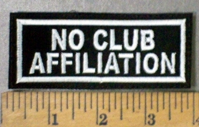 4771 L - No Club Affiiation - Embroidery Patch
