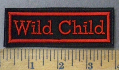 4774 L - Wild Child - Red - Embroidery Patch