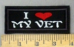 4776 L - I Heart My Vet - Embroidery Patch